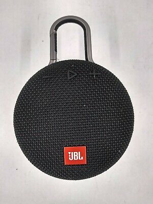 JBL Clip 3 Portable Bluetooth Speaker - Midnight Black. See Pics