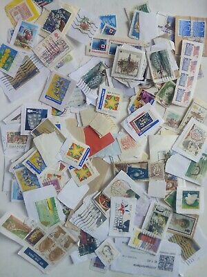 WW 100 grams KILOWARE abt 800 USED STAMPS OFF PAPER PERIOD 20th C to 2018r