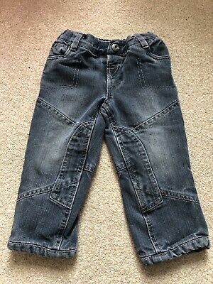 Vertbaudet Boys Lined Jeans Age 2 Years Grey