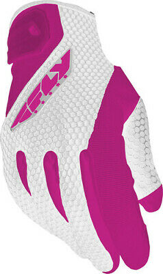 Fly Racing Ladies CoolPro II Gloves White/Pink Large #5884 476-62104