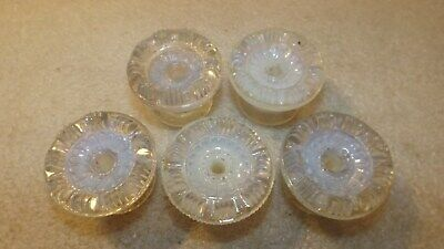 5 Old Sandwich Glass Opalescent Drawer Pulls T