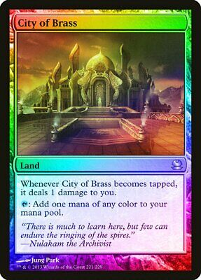 City of Brass FOIL Modern Masters NM-M Land Rare MAGIC GATHERING CARD ABUGames