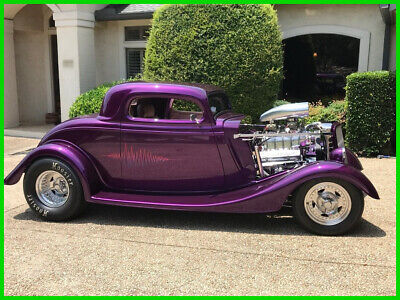 1934 Ford 3 Window  34 Ford 3 Window Coupe 350 Chevy Gas TH 400 Automatic Mallory Electric Fuel Pump