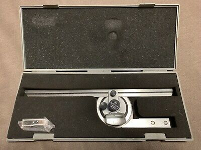 Mitutoyo 187-906 Universal Bevel Protractor Set (flawless, rarely used, mint)