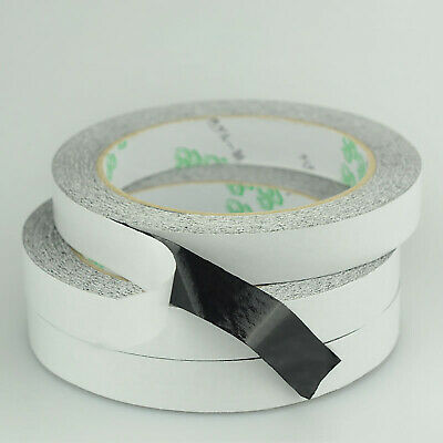 Black Double Sided Sticky Tape Diy Strong Craft Adhesive 20/50M Long 0.1mm Thick