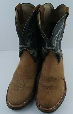 8a4f844bf9c MENS DOUBLE H Roper Cowboy Western Work Boots 3583 Size 11D - $74.99 ...