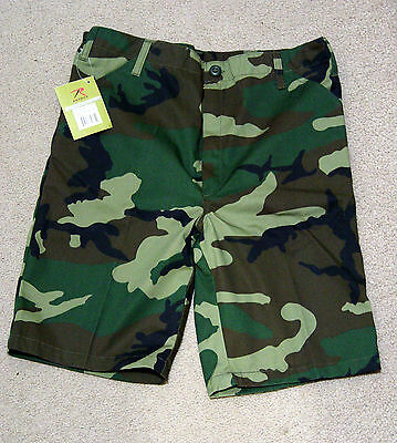 Kids Youth Boys Girls US Military Army Camo Shorts BDU  NWT  Multi-Color Clothes