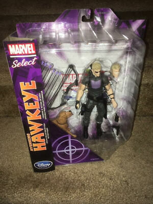 "Marvel Select AVENGING HAWKEYE 7"" ACTION FIGURE Disney Store NIB NEW"
