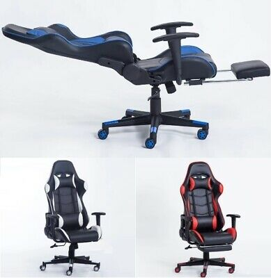Household Office Chair Racing Synthetic Leather Gaming Chair Comfortable Lying