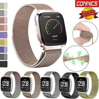 Milanese Stainless Steel Wristband Strap Watch Band For Fitbit Versa Replacement