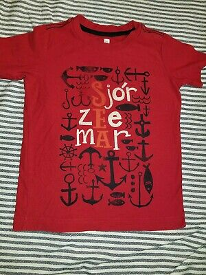 Tea collection Boys T-shirt Red Size 5 Sea