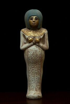 EGYPT EGYPTIAN ANTIQUES STATUE Beautiful Ushabti HIEROGLYPHS Shabti STONE B.C