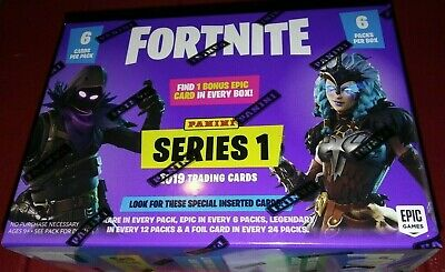 2019 Panini Fortnite Blaster Box 6 Packs 6 cards per pack Chase Rare Inserts