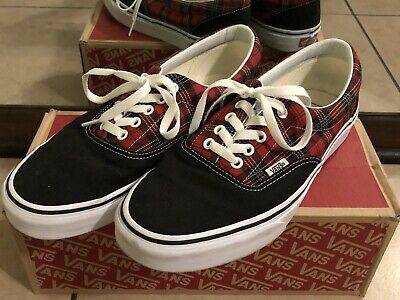 Vans Authentic Era Tartan Pack (Men Size 10.5) Red/Black Plaid Punk - Dandy Andy