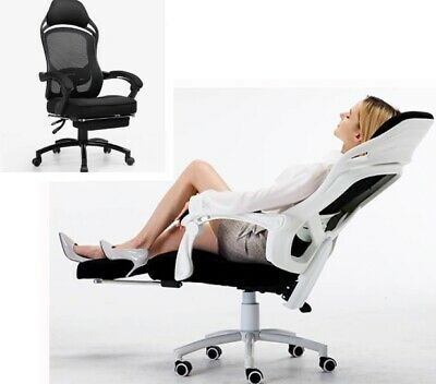 Computer Office Chair With Footrest Home Leisure Comfortable Lying Swivel Chair