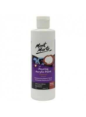 Mont Marte Pouring Acrylic 240ml - Titanium White for Fluid Art