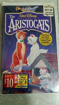 The Aristocats VHS (1996) NEW SEALED Walt Disney Masterpiece Collection