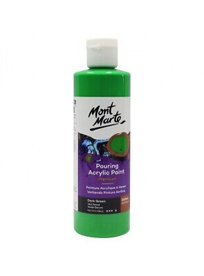 Mont Marte Pouring Acrylic 240ml - Dark Green for Fluid Art