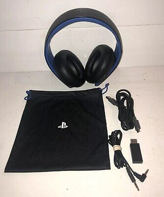 Sony PlayStation 4 PS4 Official Headset Headphones Wireless COMPLETE w/ Dongle