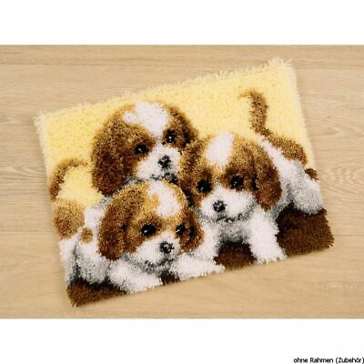 Vervaco Latch hook carpet kit 3 Puppies, DIY