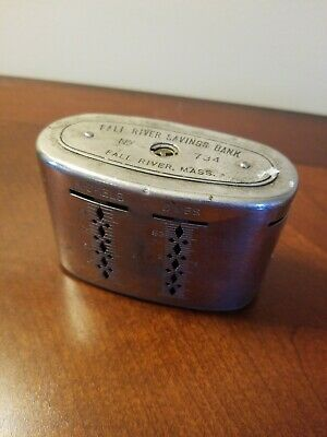 Vintage VTG Traveling Teller Bank Fall River Savings Bank Massachusetts No Key
