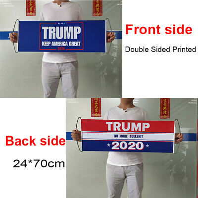 24*70cm Trump 2020 Election Flag Keep America Great No More Bullshit Double Side