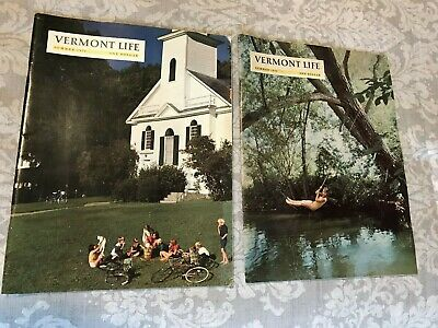 Lot 5-Summer-Vermont Life Magazine-1971, 1972, 1974, 1976, 1979-No Odor-Vg Cond