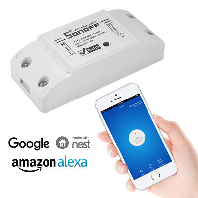 WIRELESS WIFI SWITCH Relay Module APP Voice Control for Alexa Google