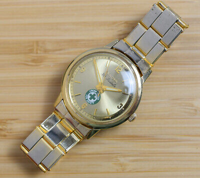 1965 Vintage BULOVA 30 Jewel Automatic Gold Plated Watch NOBLE DRILLING Presenta