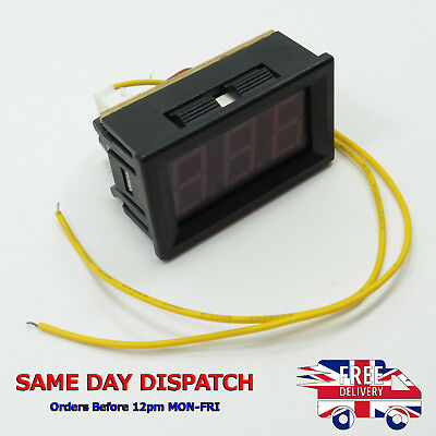"70-300V AC Digital Voltmeter 0.56"" LED Two Wires Self Power 220V 230V 240V 110V"