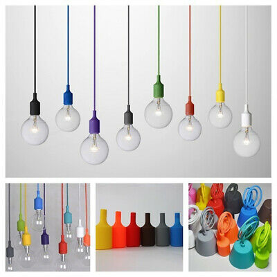 Silicone Ceiling Pendant Lamp Holder Industrial Vintage Light Home Decor E26/E27