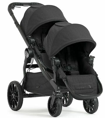 Baby Jogger City Select Lux Tandem Double Stroller with Second Seat Granite NEW