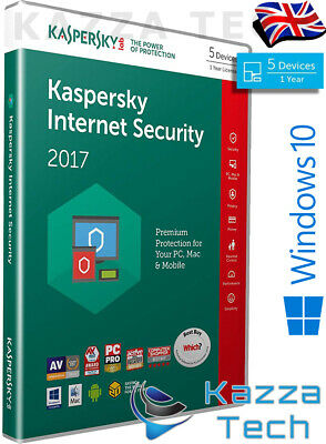 Kaspersky Internet Security 2017 5 Utilisateur PC Multi-Device 1 An GB Vente au