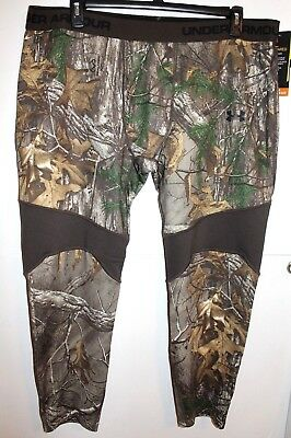 df702dfee6147 Nwt Under Armour Men's Scent Control Hunting Realtree Camo Tights Pants 3Xl  $75