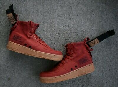 315123 608 Nike Air Force 1 Mid (Red)
