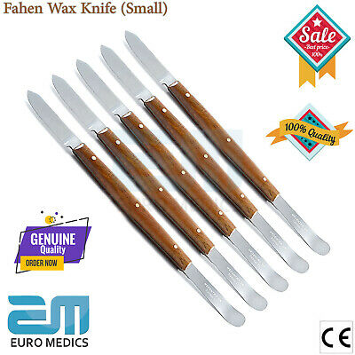 X5 Fahen Wax Knife Modelling Carving Tool Small Dental Laboratory Wood Handle Ce