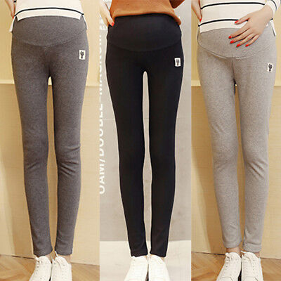 Casual Skinny Maternity Pants Leggings Women Solid Color Maternity Pants EO