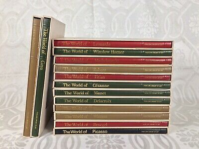 Vintage TIME LIFE LIBRARY OF ART Set of 14 Hardcover Books in sleeves