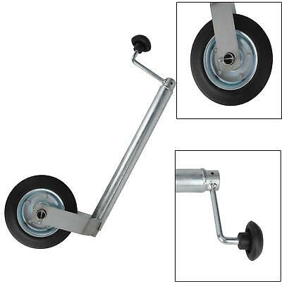 34mm 100KG Shaft Jockey Wheel With Clamp For Trailer Caravan Container UK