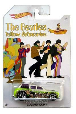 Hot Wheels The Beatles Yellow Submarine Cockney Cab II John Lennon new