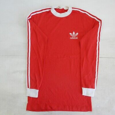 Adidas Red Vintage Shirt Polo Maglia Jersey