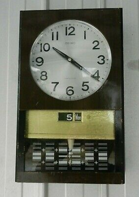 Seiko 30 Day Pendulum Wall Clock Day Date Vintage Japanese Superb Collectible