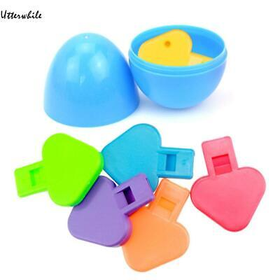 Kids Easter Eggs Filled with Mushroom Whistle Easter Party Children Toy U8HE