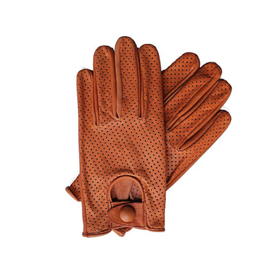 Mens Classic Retro quality Chauffeur Soft Mesh Lambskin Leather Driving Gloves