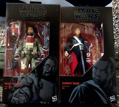 "Star Wars Black Series 6"" Inch Figure Rogue One Lot Baze + Chirrut New"