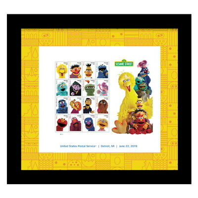 USPS New Sesame Street Framed Stamps