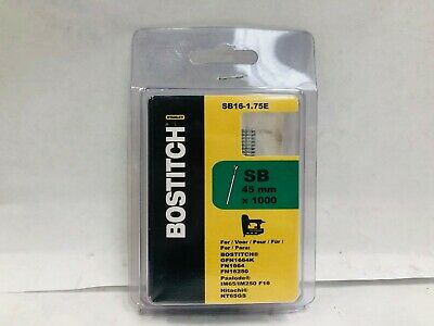 Stanley Bostitch SB16-1.75E Straight Finish Nail 45mm Galvanised 16 Gauge (1000)
