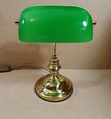 Bankers Table Desk Lamp Green Shade