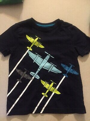 gymboree 3t boyssgrt Blue Lme Green White Airplain Euc