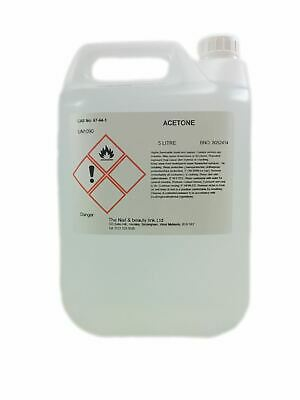 5 litres / 5000ml -  Pure Acetone  - Next Day Delivery